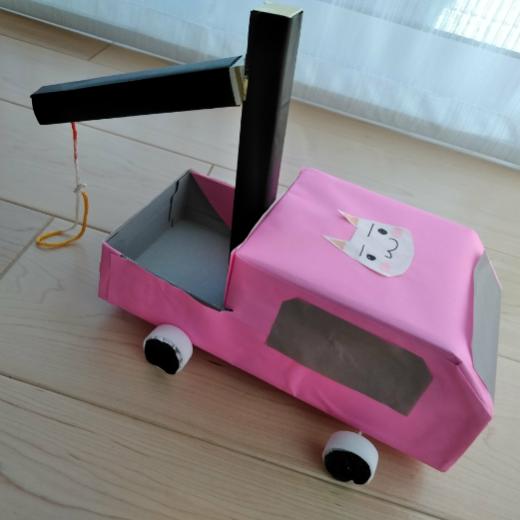 空き箱で車の作り方~第2弾 レッカー車編~