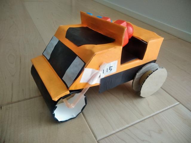 空き箱で車の作り方~第4弾 ロードローラー編~