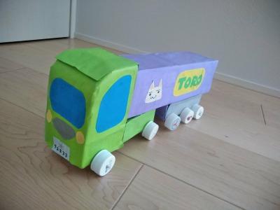 空き箱で車の作り方~第8弾 トレーラートラック~