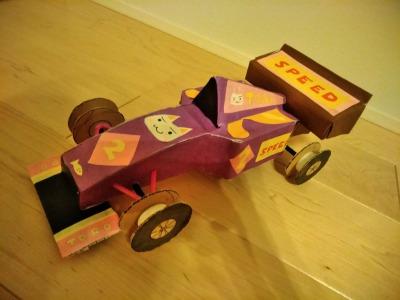 空き箱3つでレーシングカーの作り方~第10弾 レーシングカー編~